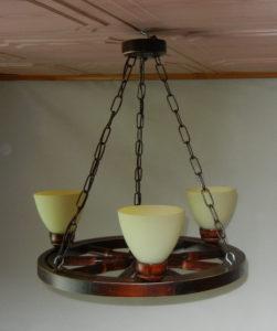 Lampa 3pkt na podstawie koła wozu 50cm