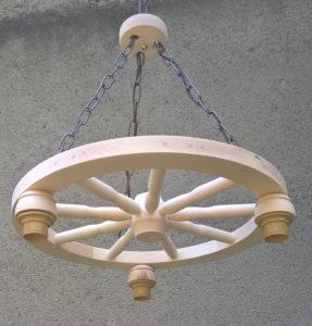 Lampa 3pkt na podstawie koła wozu 50cm.
