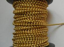 Łańcuszek koralikowy złoty