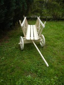 Wóz drewniany drabiniasty.